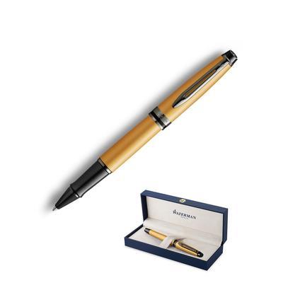 Роллер Waterman Expert Gold цвет чернил черный цвет корпуса золотистый (артикул производителя 2119259)