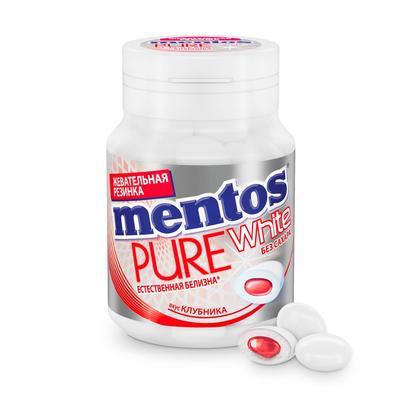 Жевательная резинка Mentos Pure White Клубника 54 г