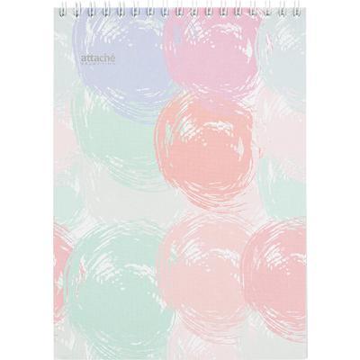 Блокнот Attache Selection Pastel A5 80 листов разноцветный в клетку на спирали (145x203 мм)