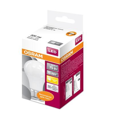 Лампа светодиодная Osram 9 Вт E27 грушевидная 2700 К теплый белый свет