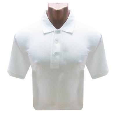 Рубашка Поло (190 г), короткий рукав, белый (XXL)