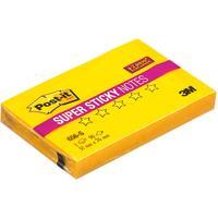 Стикеры Post-it Super Sticky 76х51 мм неоновые желтые (1 блок, 90 листов)
