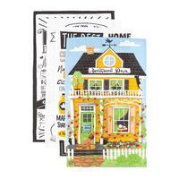 Набор полотенец кухоных Доляна Любимый дом 35х60 см (4 штуки в упаковке)
