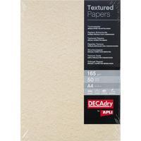 Дизайн-бумага Decadry Текстурная шампань (A4, 165 г/кв.м, 50 листов в упаковке)