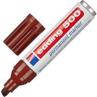 Маркер перманентный Edding 500/7 коричневый (толщина линии 2-7 мм) скошенный наконечник