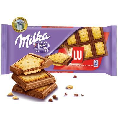 Шоколад Milka молочный с печеньем LU 87 г