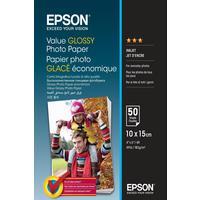 Фотобумага для цветной струйной печати Epson Value Glossy (глянцевая, А6, 183 г/кв.м, 50 листов, артикул производителя C13S400038)