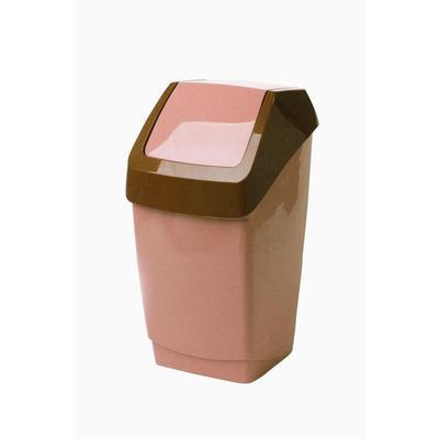 Ведро для мусора с крышкой-вертушкой М-Пластика Свинг 25 л пластик бежевое (32х27.9х58 см)