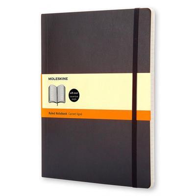 Блокнот Moleskine Classic Soft Xlarge A5+ 96 листов черный в линейку на сшивке (190x250 мм)
