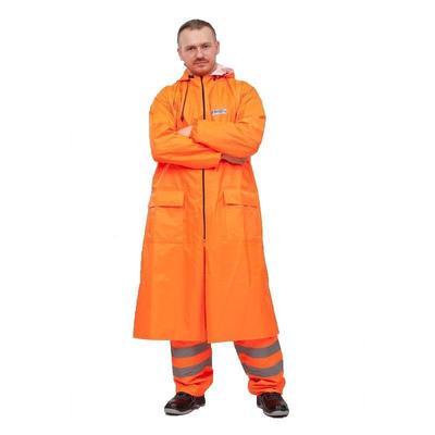 Плащ ПВХ Poseidon WPL, оранжевый, флуоресцентный (размер 60-62, рост 182-188)