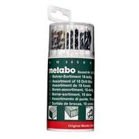 Набор сверл Metabo в пластиковом боксе 18 штук (артикул производителя 627190000)