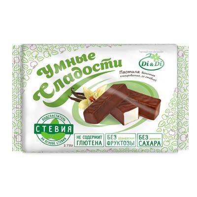 Пастила Умные сладости Di&Di ванильная в шоколадной глазури 175 г