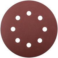 Круг шлифовальный с отверстиями 5 шт. (липучка 125 мм, Р180) FIT (39668)