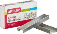 Скобы для степлера №26/6 Attache оцинкованные (1000 штук в упаковке)
