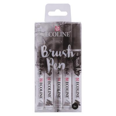 Набор акварельных маркеров Ecoline 5 серых цветов