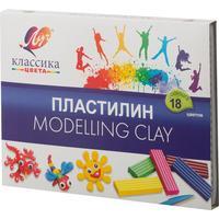 Пластилин классический Луч Классика 18 цветов 360 г со стеком