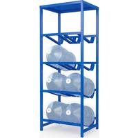 Стеллаж для бутилированной воды Бомис-8П на 8 тар по 19л синий