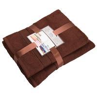Набор полотенец махровых Ундина 50х90 см 2 штуки 70х130 см 1 штука 430 г/кв.м темно-коричневые