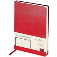 Ежедневник недатированный Bruno Visconti Megapolis искусственная кожа А5 160 листов красный (145x215 мм)
