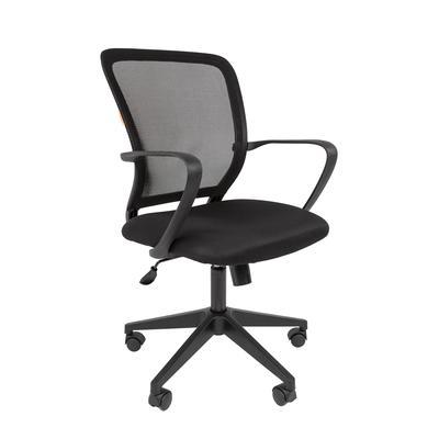 Кресло офисное Chairman 698 черное (ткань/сетка/пластик)