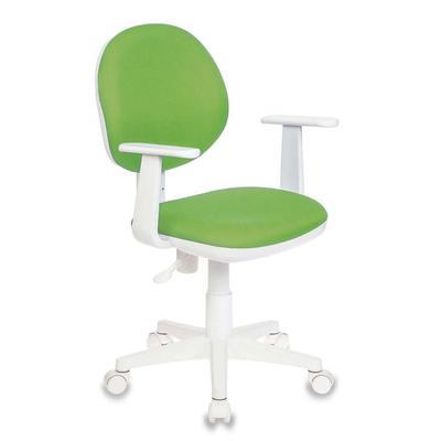 Кресло детское Бюрократ CH-W356 зеленое (ткань, пластик)