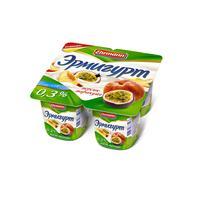 Йогурт Эрмигурт легкий персик-маракуйя 0.3% 4 штуки по 100 г
