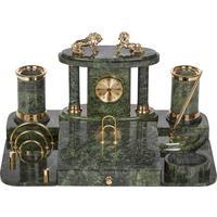 Настольный набор Премьер-1 мраморный 8 предметов зеленый