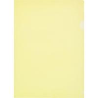 Папка-уголок Attache Economy A4 пластиковая 100 мкм желтая (10 штук в упаковке)