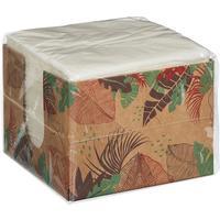 Салфетки бумажные 24x24 см белые 1-слойные 100 штук в упаковке