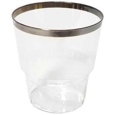 Стакан одноразовый пластиковый 200 мл прозрачный 6 штук в упаковке Кристалл Винтаж