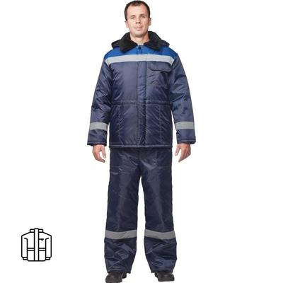 Куртка рабочая зимняя мужская з32-КУ оксфорд с СОП синяя/васильковая (размер 48-50, рост 182-188)