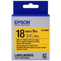 Картридж для принтера этикеток Epson LK5YBW (18 мм x 9 м, цвет ленты желтый, шрифт черный)