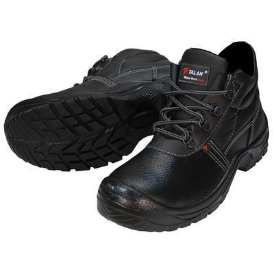 Ботинки утепленные Standart из натуральной/искусственной кожи черные размер 46