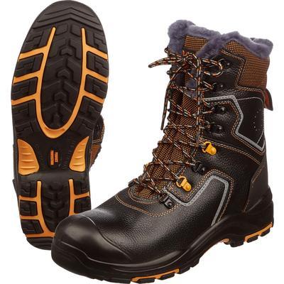Ботинки высокие утепленные Perfect Protection из натуральной кожи черные (размер 46)