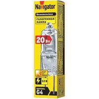 Лампа галогенная Navigator JC 20 Вт clear G4 12В 2000h (94210)