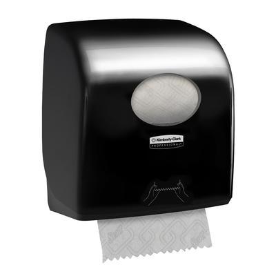 Диспенсер для рулонных полотенец Aquarius пластиковый черный (код производителя 7376)