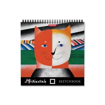Альбом для эскизов ErichKrause Мяулевич 220x220 мм 40 листов