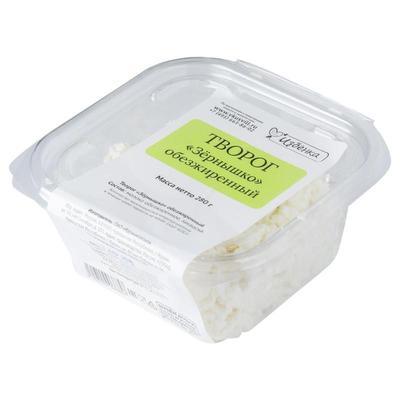 Творог зернышко ВкусВилл обезжиренный 280 г (12 штук в упаковке)
