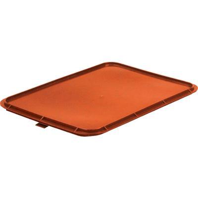 Крышка для ящика (лотка) кондитерского из ПНД 430х330х20 мм красная