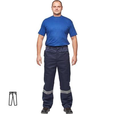 Брюки рабочие летние мужские л03-БР с СОП синие (размер 48-50 рост 194-200)
