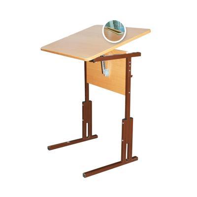 Стол ученический одноместный Фортресс с регулируемым наклоном столешницы (бук/коричневый, рост 3-5)