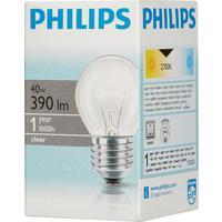 Лампа накаливания Philips 40 Вт E27 шаровидная прозрачная 2700 К теплый белый свет