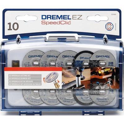 Набор отрезных кругов c держателем Dremel SC690 10 штук (2615S690JA)