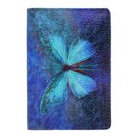 Обложка для паспорта Eshemoda Бабочка кружево из натуральной кожи разноцветная