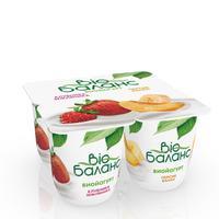 Йогурт Bio Баланс биойогурт клубника/земляника и персик/банан 2.8% 125 г