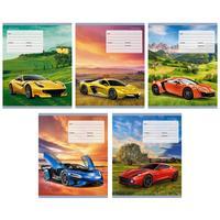 Тетрадь школьная Канц-Эксмо Супер-авто А5 18 листов в клетку на скрепке (обложка в ассортименте)