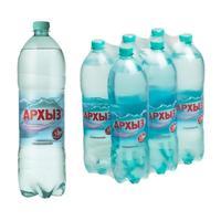 Вода минеральная Архыз газированная 1.5 л(6 штук в упаковке)