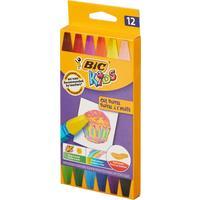 Мелки восковые Bic Kids трехгранные 12 цветов на масляной основе