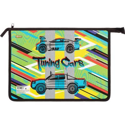 Папка для тетрадей №1 School Tuning Cars А4 на молнии