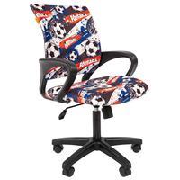 Кресло детское Chairman Kids 103 Футбол (велюр/пластик черный)